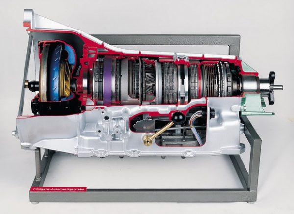 Fünfgang-Automatikgetriebe, elektronisch gesteuert, mit Drehmomentwandler