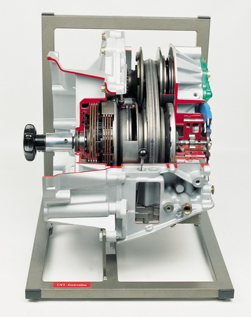 CVT automatic transmission with sliding articulated band