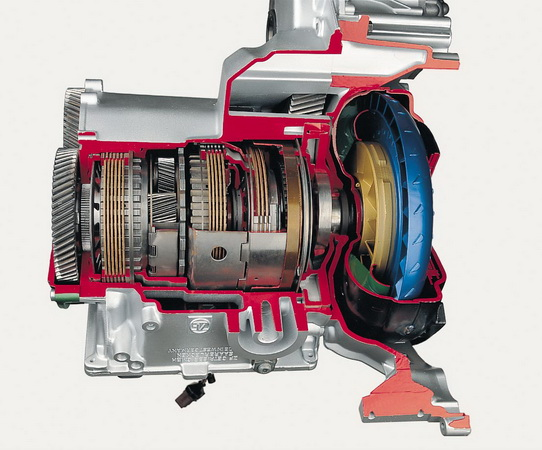 four-speed automatic transmission for front-wheel drive (ZF)