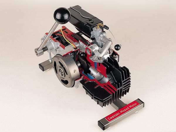 Zweitakt Moped Motor