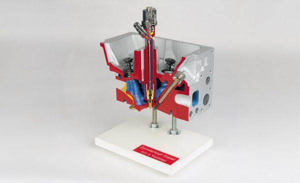 Zylinderkopf Diesel Direkteinspritzer mit Vierventiltechnik