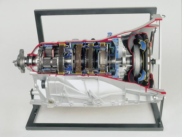 Sechsgang Automatikgetriebe und Wandler mit Überbrückung (ZF)