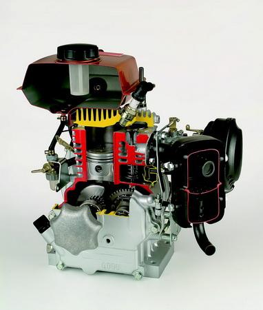 Unten gesteuerter Viertaktmotor
