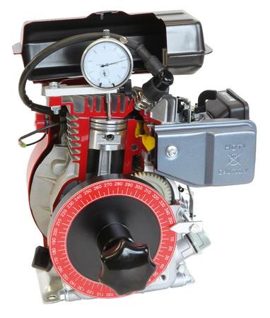 Unten gesteuerter 4-Takt-Motor mit Gradscheibe