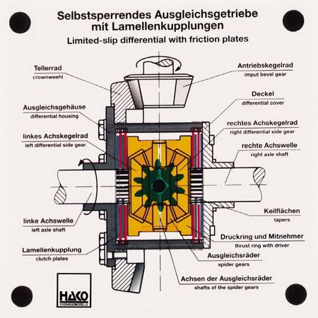 Selbstsperrendes Ausgleichsgetriebe mit Lamellenkupplung