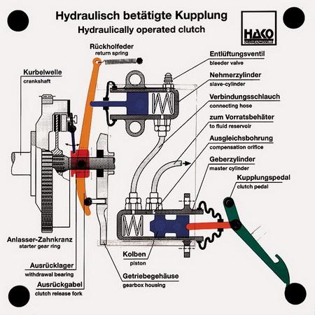 Hydraulisch betätigte Kupplung