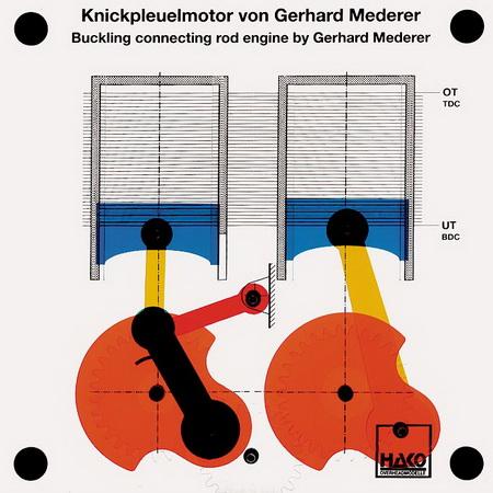 Knickpleulmotor von Gerhard Mederer