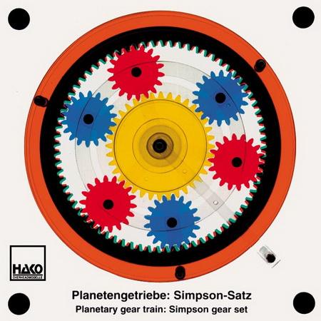 planetary gear train: Simpson gear set