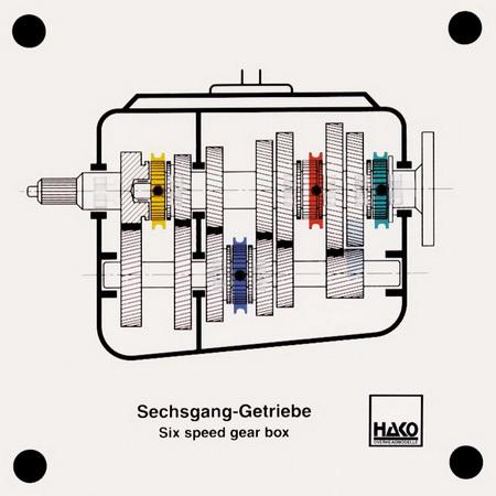 Sechsgang-Getriebe
