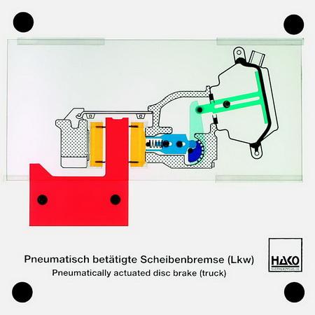 Pneumatisch beätigte Scheibenbremse (Lkw)